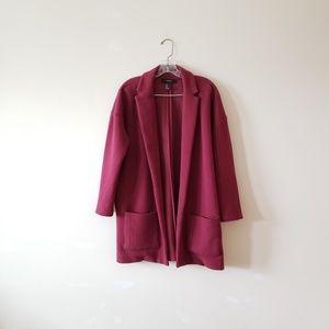 Forever21 Burgundy Duster Sweater Jacket S